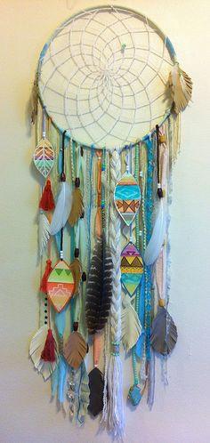 design. #dreamcatcher by rachael rice http://rachaelrice.com #aztec #chevron
