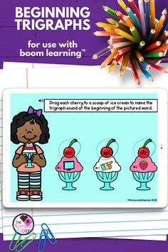 Are you looking for a fun activity to use in teaching trigraphs? This beginning trigraph digital BOOM™ deck is a enjoyable way to practice these. These trigraph activities are perfect for first grade or 2nd grade for phonics teaching. Audio is included to help your students to be successful and able to complete the activity independently. Students will listen for the sounds and identify them or spell the words. Try these fun beginning trigraphs activities today! {second, ELA centers}