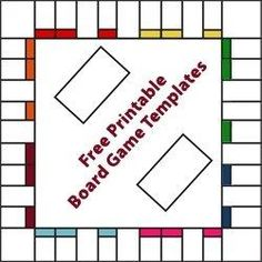 Free Printable Board Game Templates (from http://www.squidoo.com/board-game-templates)