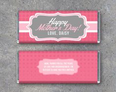 mothers day candy bar wrapper template - Google Search
