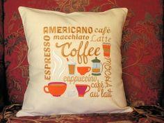 Pillow Cover, Coffee, Mocha, Espresso, Pillow Cover Cotton, Pillow…