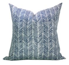 Alan Campbell Petite Zig Zag pillow cover in Navy by sparkmodern Navy Pillows, Throw Pillows, Accent Pillows, Alan Campbell, How To Make Pillows, Zig Zag, Decorative Pillows, Pillow Covers, Detail