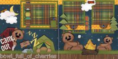Camp Out Camping 2 Premade Scrapbook Pages 12x12 3D Paper Piecing by Cherry | eBay