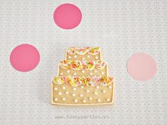 Colorful Cake Cookie by www.fancyparties.es