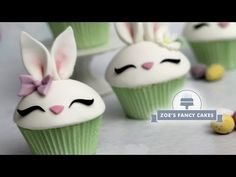 Bunny cupcake tutorial for Easter - YouTube
