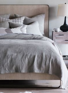 Luxe and functional in equal measure, this cotton matelassé bedding adds a fashionably understated layer to your bedroom decor. Features textural pocket-weave construction.