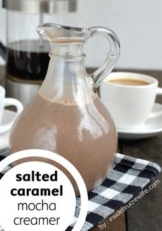Make your coffee a chocolate experience with this easy Salted Caramel Mocha creamer recipe.