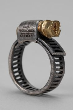Crimp Ring Gold/Silver  ...I used this idea in high school for a proposal.. @Stephanie Wratney