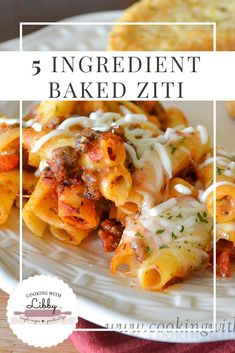 This easy recipe for 5 Ingredient Baked Ziti can be made with ground beef or Italian Sausage. You can make it meatless and substitute vegetables.s the best recipe around if you are looking for a quick and cheap meal! Make it part of your Christmas men Baked Ziti With Ricotta, Baked Ziti With Sausage, Easy Baked Ziti, Baked Pasta Recipes, Cooking Recipes, Healthy Recipes, Cheap Recipes, Recipe For Baked Ziti, Baked Ziti Recipes With Ground Beef