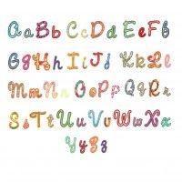 Sweet script applique monogram embroidery font alphabet