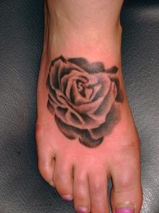 Rose Tattoos With Image Female Tattoo With Rose Foot Tattoo