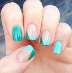 Image on Easy Nail Designs for short nails step by step in spring. Picture of Easy & & Nails Source by vavnageldesign The post Image on Easy Nail Designs for short nails step by step in spring. Picture & appeared first on nails. Fancy Nails, Trendy Nails, Love Nails, How To Do Nails, Teal Nails, Sparkle Nails, Green Nails, Nails Turquoise, Turquoise Art