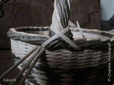Мастер-класс Поделка изделие Плетение ручка для корзины Трубочки бумажные фото 30