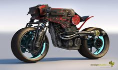 """Cycle Concept Design by Annis Naeem-looks like a """"prettier"""" version of something you'd see in Mad Max. :)"""