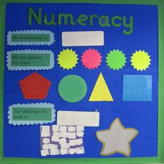 Numeracy Working wall - like the clarity - not at all cluttered Teaching Displays, School Displays, Classroom Displays, Primary Teaching, Primary School, Teaching Ideas, Math Resources, Math Activities, Reception Class