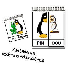 Jeu phonologie GS - les animaux extraordinaires