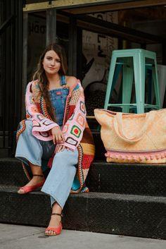 Kimono Top, Sari, Street Style, Tops, Women, Fashion, Moda, Saree, Urban Style