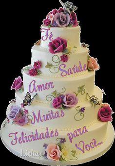 bolo de feliz aniversario | Desejo que esse dia seja de muitas alegrias e que você realize seus ...