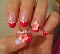 French Nail Art Flower