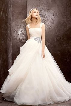 White by Vera Wang Fall 2012: Ball gown with gathered tulle skirt    (Style-351129)