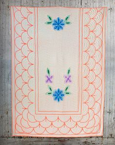 1940's Vintage Chenille Bedspread  from fallaloft