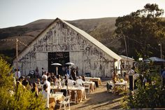 Love the rustic look of the Cayucos Creek Barn, and then we'd be really close to the ocean.... and Tacos de! :) $4500 for the weekend