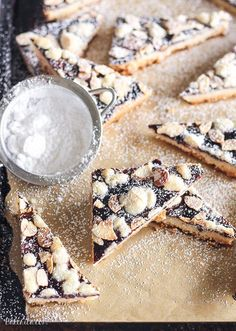 Jam Shortbread are made with just four ingredients, but they're delicious and impressive enough to serve to guests or display on a holiday cookie platter. This easy recipe will become a holiday favorite. Turtle Cookies, Mini Desserts, Delicious Desserts, Delicious Cookies, Yummy Food, Toffee, Baking Recipes, Cookie Recipes, Appetizer Recipes