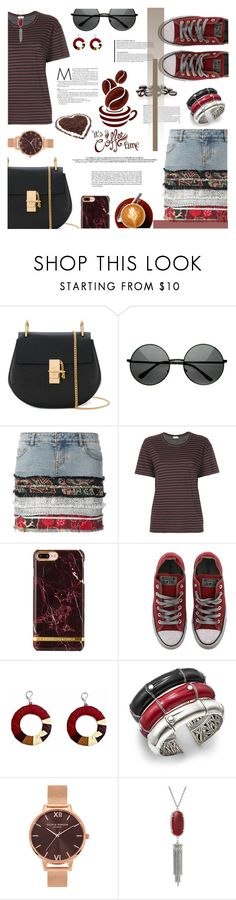 """""""Caffeine Fix: Coffee Break"""" by ashblondredhed ❤ liked on Polyvore featuring Chloé, Faith Connexion, MASSCOB, Converse, John Hardy, Olivia Burton, Kendra Scott, contestentry and coffeebreak"""