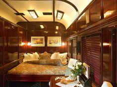 Bedroom with double bed, Rovos Rail: The Luxury Train Club offers the luxury train, Rovos Rail, South Africa.              4     1        Newer Older  The Luxury Train Club offers the luxury train, Rovos R...