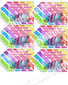 Trolls Birthday Party Printables