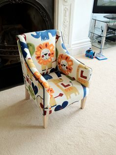 Lions!! Children's Chair by OwenHillBespoke on Etsy, £145.00