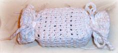 Crochet Afghan Stitch Cotton Soap Saver or Party Favor Bag