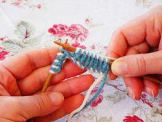 double knitting photo tutorial