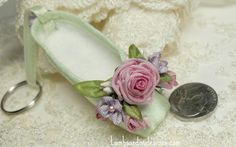 ballet shoe keychain by lambs and ivy designs