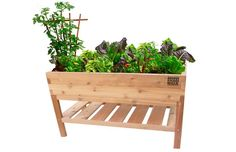 Elevated Table Garden A elevated table garden assembles tool free in 10 minutes or less Perfect for growers with bad backs special needs or unruly pets
