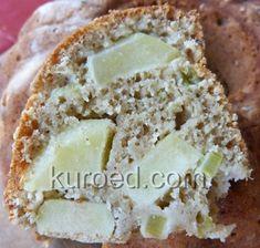 Овсяный пирог с яблоками и ревенем
