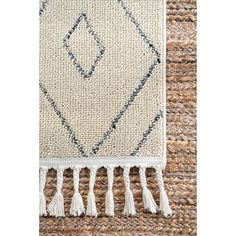 Shop for The Curated Nomad Ashbury Contemporary Geometric Tassel Area Rug. Get free delivery On EVERYTHING* Overstock - Your Online Home Decor Store! Area Rugs For Sale, Power Loom, Online Home Decor Stores, Memorable Gifts, Fall Decor, Tassels, Living Spaces, How To Memorize Things, Beige