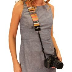 "Buy the strap at: http://www.designstraps.de/listing/?p=1&s=2 Calico 2"" Camera Strap by Capturing Couture"