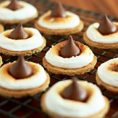 S'mores Bites — two ways: Kiss or Rolo. Dessert in 5 minutes or less!