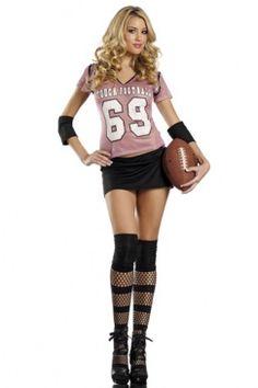 PINK BLACK SEXY FOOTBALL GIRL COSTUME