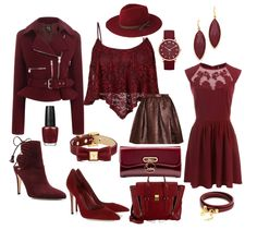 All claret red things !!