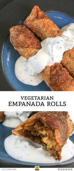 Want an easy method for how to make empanadas? This recipe for vegetarian empanadas uses the flavors of a traditional beef and chorizo empanada with an untraditional twist!   Tiny Kitchen Cuisine   http://tiny.kitchen