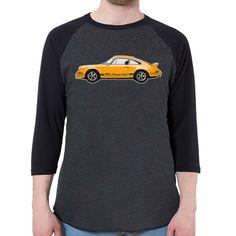 1972 Porsche 911 RS Men's 3/4 Sleeve, Baseball Shirt