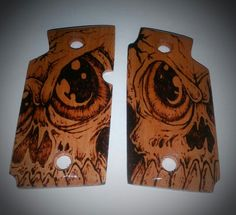 P238 Sig Sauer custom grips - pyrography by Clay Bradshaw Find our speedloader now! http://www.amazon.com/shops/raeind