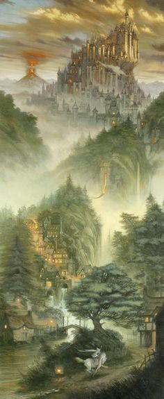 I assume this is Tolkien-inspired? Certainly reminds me of Middle Earth. And Gandalf.