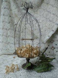 wire bird cage tutorial - just in case I haven't already pinned this one