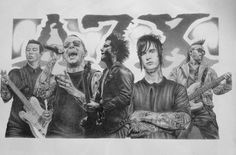 Avenged Sevenfold Original Sketch Prints - Poster Size - Black & White - Features M. Shadows, Zacky Vengeance, Synyster Gates, Johnny Christ, and Jimmy The Rev Sullivan. Print of Highly-Detailed, Handmade Drawing By Artist Mike Duran   http://citymoonart.com/avenged-sevenfold-original-sketch-prints-poster-size-black-white-features-m-shadows-zacky-vengeance-synyster-gates-johnny-christ-and-jimmy-the-rev-sullivan-print-of-highly-detailed-handmade-drawing-by-artist-mike-duran/