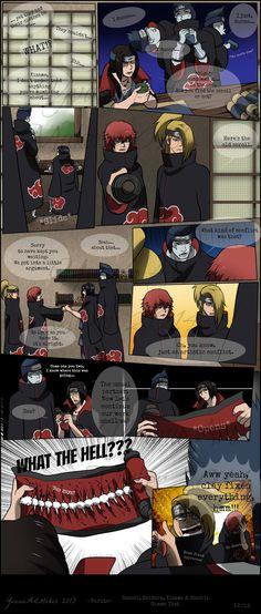 """Naruto Shippuden » Humor » Comic   """"Gimme That"""" Page 12/12   #sasori #deidara…"""
