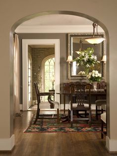 Formal Dining - traditional - dining room - Studio C Architecture & Interiors Dining Room Paint Colors, Dining Room Walls, Dining Room Design, Wall Colors, Dining Area, Cherry Furniture, Beautiful Dining Rooms, My Living Room, House Design
