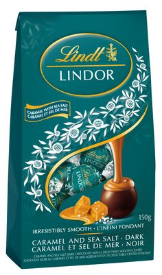 Lindt Lindor Dark Caramel Sea Salt balls